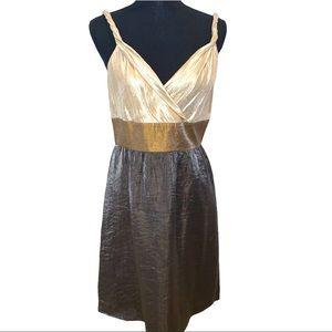 Adrianna Papell Formal V-Neck A-Line Dress Size10